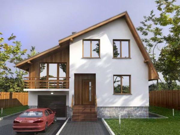 Пример крыши ломаной конструкции