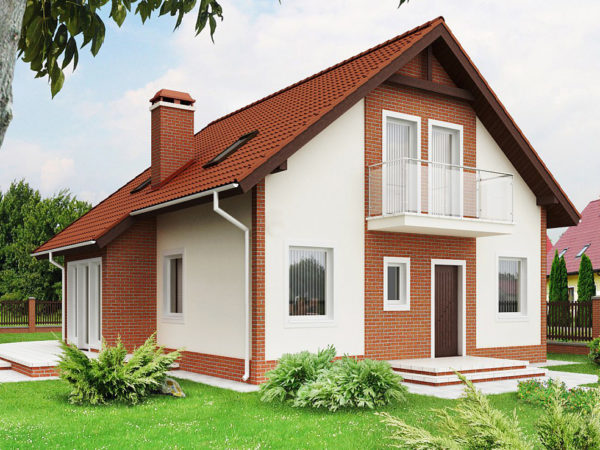 Дом с двускатной крышей