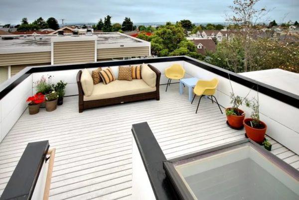Инверсионная плоская крыша