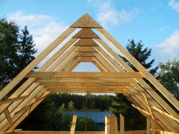 Стропильная система крыши мансарды