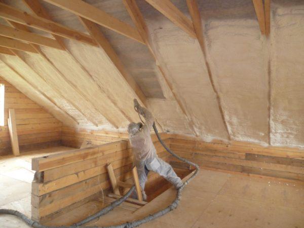 Утепление крыши вспененным стеклом