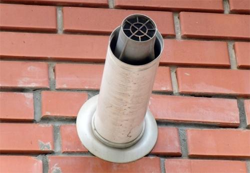 Вывод коаксиальной трубы через стену
