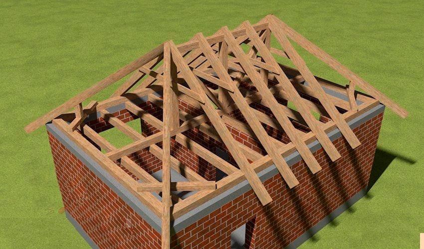 Четырехскатная крыша бани своими руками 70