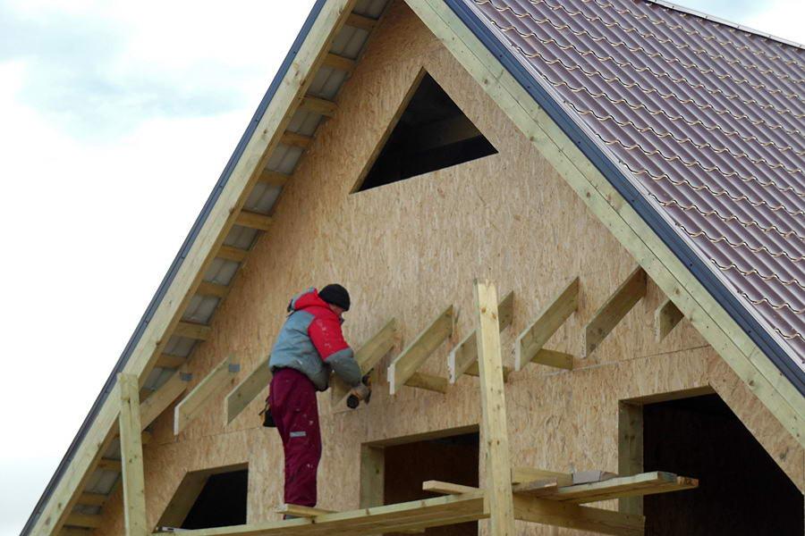 Фронтон крыши своими руками фото