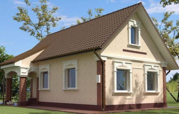 Внешний вид жилого кирпичного дома