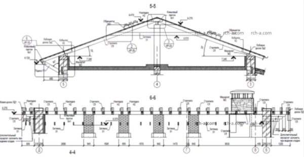 Схема стропильной системы крыши-шале