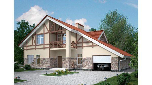 Проект асимметричной двухскатной крыши
