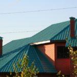 Вариант конька металлической крыши