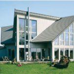 Нестандартная односкатная крыша
