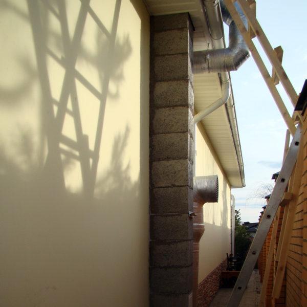 Дымоход из бетонных блоков