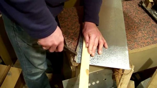 Изгиб металлического листа
