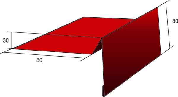 Карнизная планка для мягкой кровли