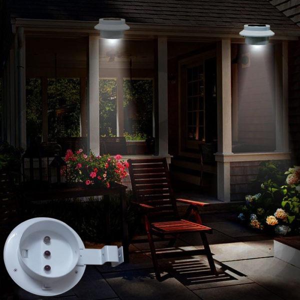 Лампы в карнизе крыши