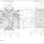 Схема раскладки стропил и затяжек
