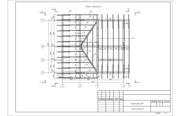 Схема расположения стропил