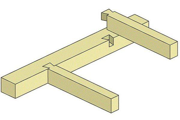 Крепление балок перекрытия способом «шип-паз»