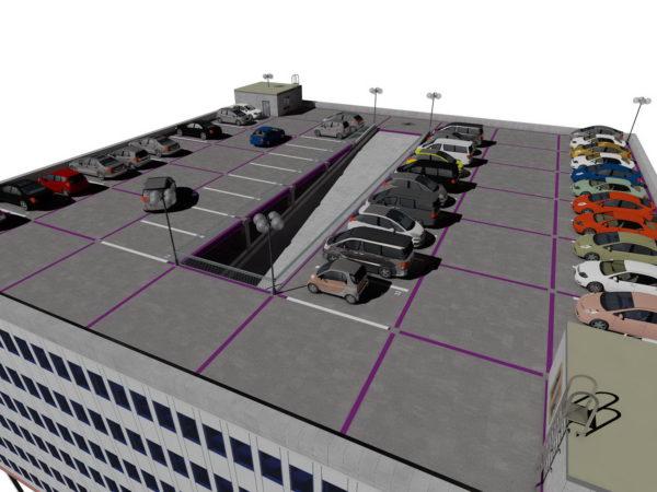 Крыша гаража с паркингом