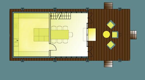 Проект гаража с летней кухней
