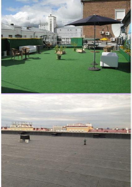 Варианты устройства плоской крыши