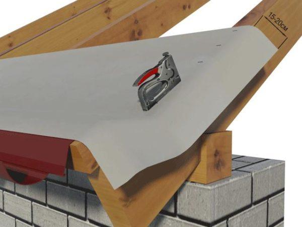 Монтаж гидроизоляции на крыше
