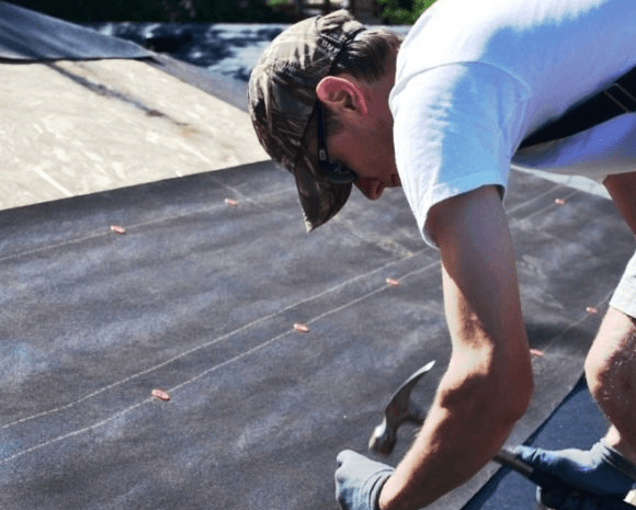 Крепление рубероида на крыше