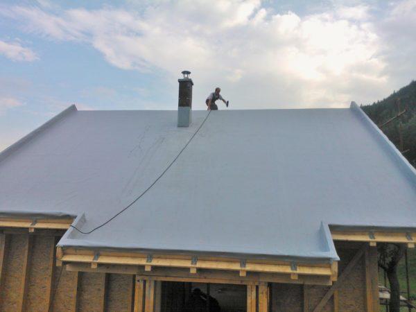 Скатная мембранная крыша