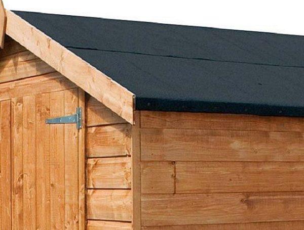 Правильное оформление карниза крыши из рубероида