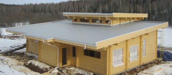 Строительство здания с плоской крышей