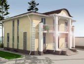 Частный дом в Минске с красивой фальцевой крышей, которой не страшны ураганные ветра, сильные ливни и обильные снегопады.
