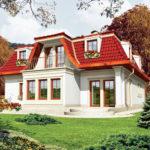 Вариант сложной крыши дома