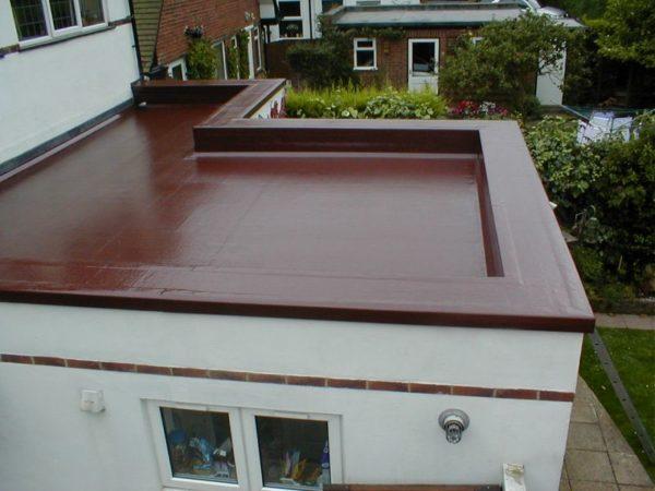 Вариант плоской крыши дома