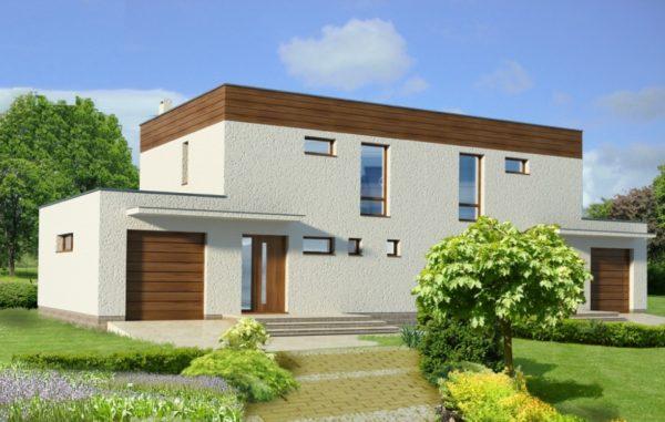 Вариант проекта дома с плоской крышей