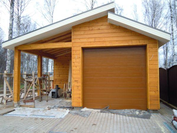 Баня с гаражом