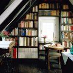 Библиотека в мансарде