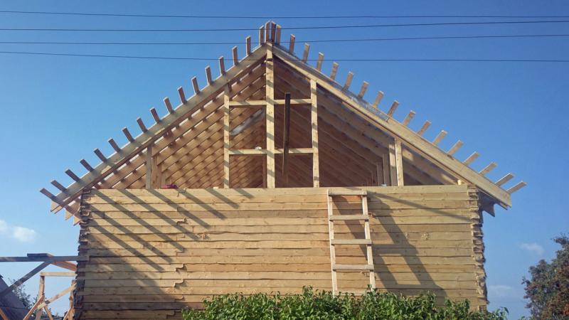 Стропильная систем двускатнй крыши