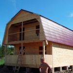Мансарда со встроенным балконом