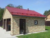 Двускатная крыша гаража