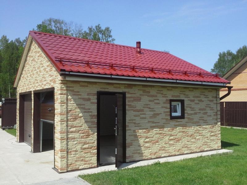 Односкатная крыша для гаража своими руками — от расчетов до монтажа