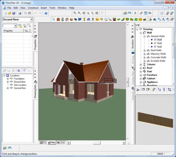 Крыша в FloorPlan3D