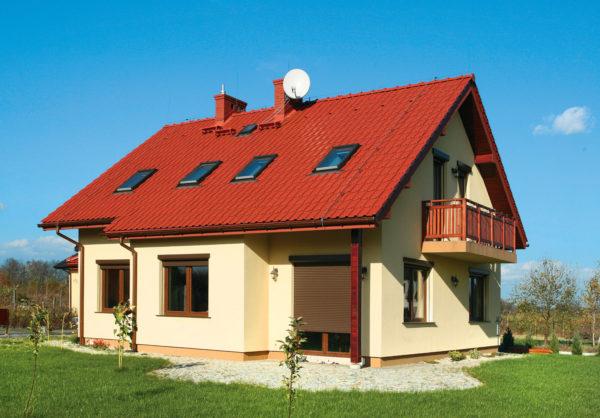 Водосток двускатной крыши